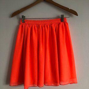 American Apparel Neon Orange Skirt